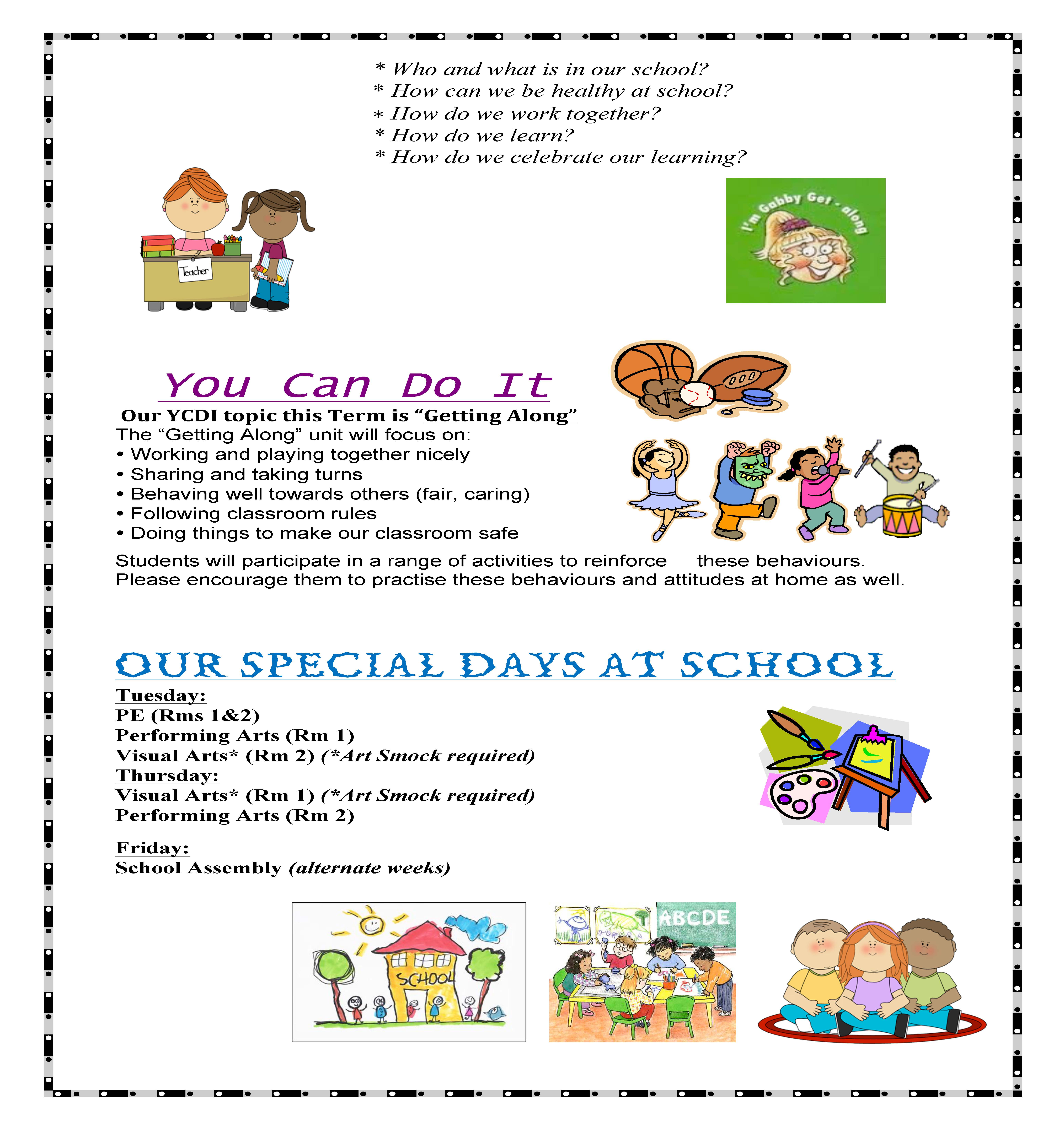Page 3 Newsletter Prep/1s